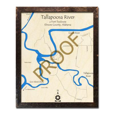 Tallapoosa River Wood Map
