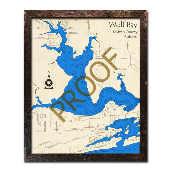 Wolf Bay AL Wood Map