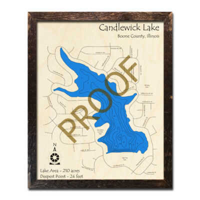 Candlewick Lake Wood Map 3D