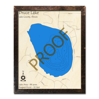 Druce Lake IL Wood Map
