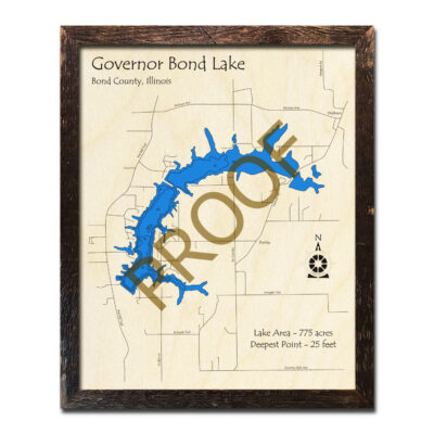 Governor Bond Lake Wood Map 3D