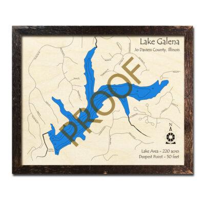 Lake Galena Wood Map 3D