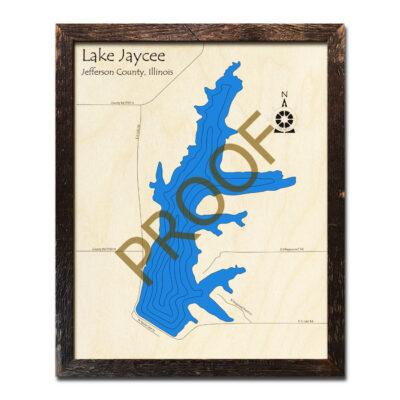 Jaycee Lake Wood Map 3d