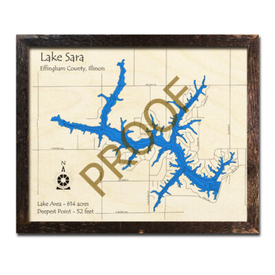 Lake Sara Wood Map 3d