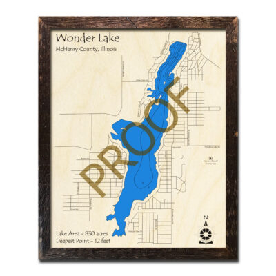 Wonder Lake IL Wood Map