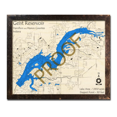 Geist Reservoir Wood Map 3d
