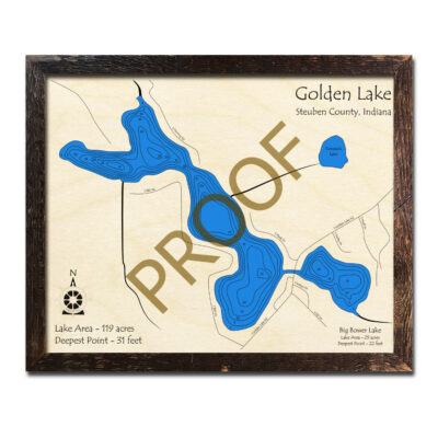 Golden Lake Indian Wood Map 3d
