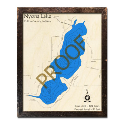 Nyona Lake Wood Map 3d