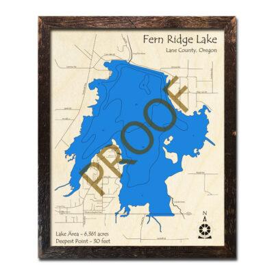 Fern Ridge Lake Wood Map 3d