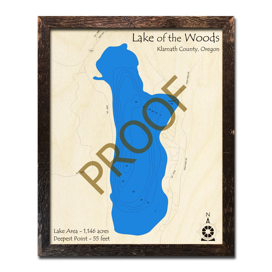 Lake Of The Woods Or Wood Map 3d Nautical Wood Charts