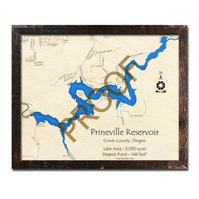 Prineville Reservoir Wood Map 3d