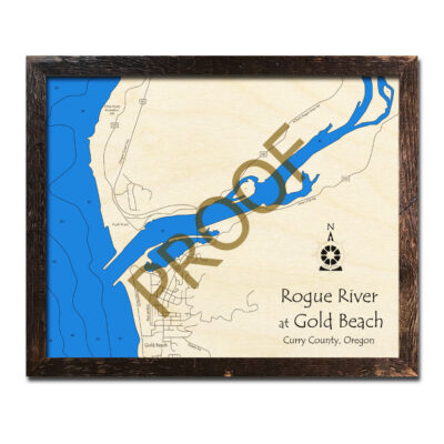 Rogue River - Gold Beach Oregon Map 3d