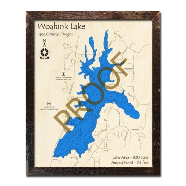 Woahink Lake Wood Map 3d