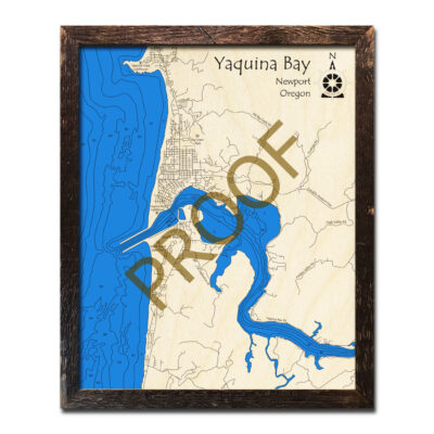 Yaquina Bay Wood Map 3D