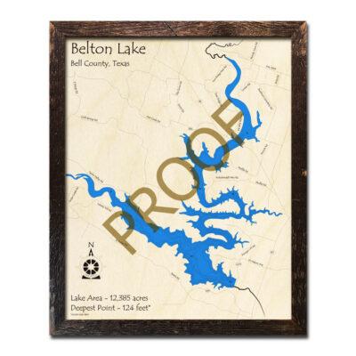 Belton Lake Wood Map