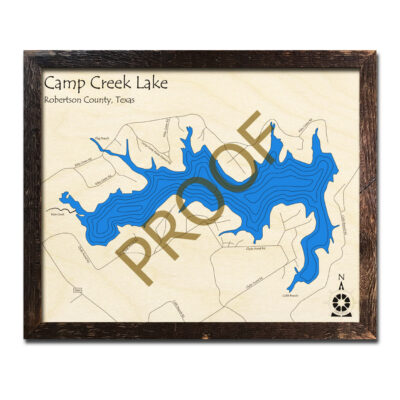 Camp Creek Lake Wood Map