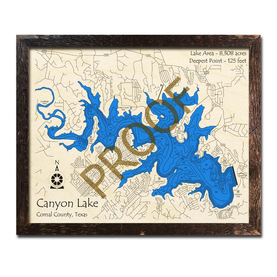 Canyon Lake, Texas 3D Wooden Map | Framed Topographic Wood Chart on menifee lakes map, mt laguna map, wichita falls lake map, government canyon state park trail map, auburn lake trails map, lakes in phoenix arizona map, nacogdoches lake map, canyon mountain map, bedford lake map, canyon fresno map, stillhouse hollow map, canyon reef map, voyageurs national park lake map, weatherford lake map, blue canyon california map, sierra lake map, cisco lake map, riggs flat lake map, fools hollow lake map, inland empire map,