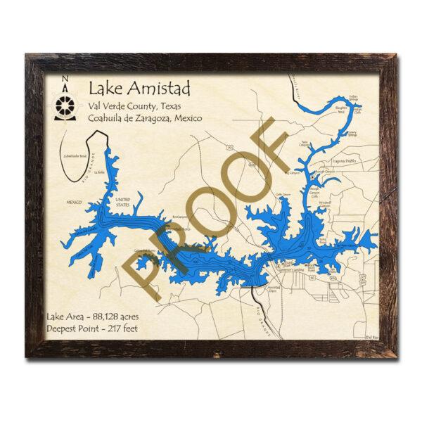 Lake Amistad Wood Map