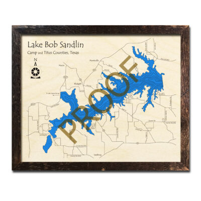 Lake Bob Sandlin Wood Map 3d