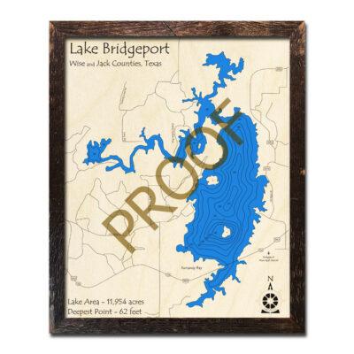 Lake Bridgeport Wood Map