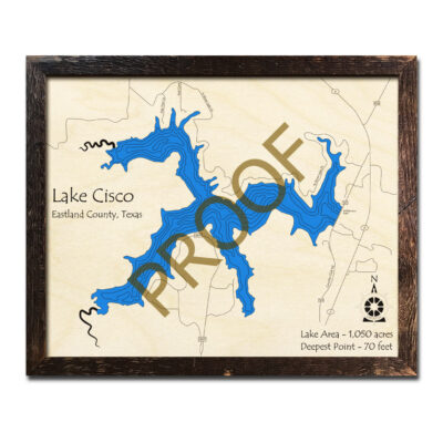 Lake Cisco Wood Map Texas