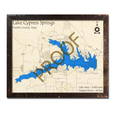 Lake Cypress Springs Wood Map