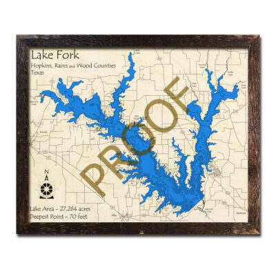 Lake Fork Wood Map 3d