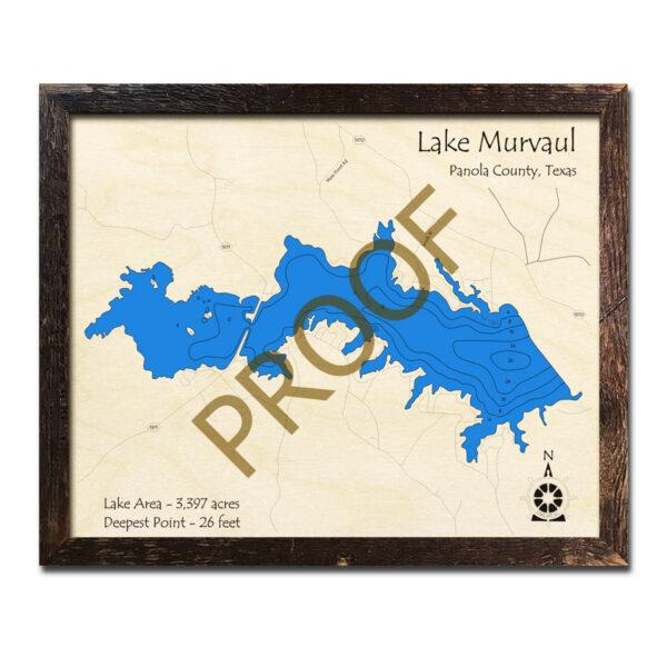 Lake Murvaul TX Wood Map