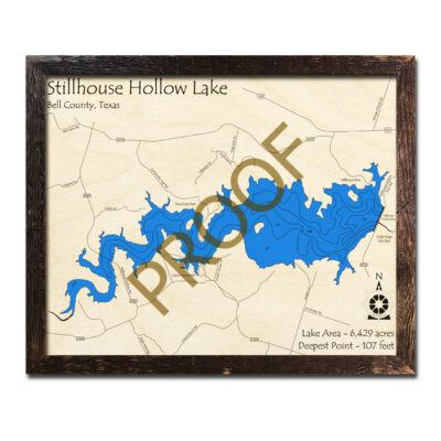 Stillhouse Hollow Lake Wood Map