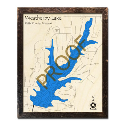 Weatherby Lake 3d wood map