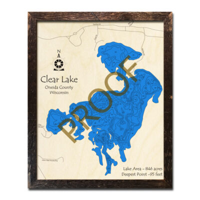 Map of Clear Lake WI