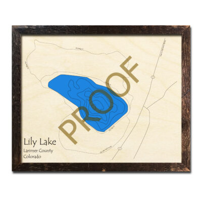 Lily Lake Colorado 3d wood map