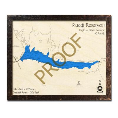 Ruedi Reservoir 3d wood map