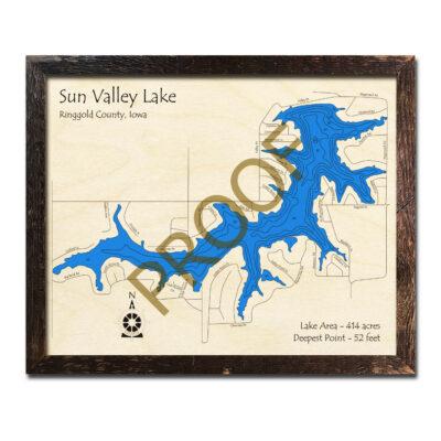 Sun Valley Lake IA 3d wood map
