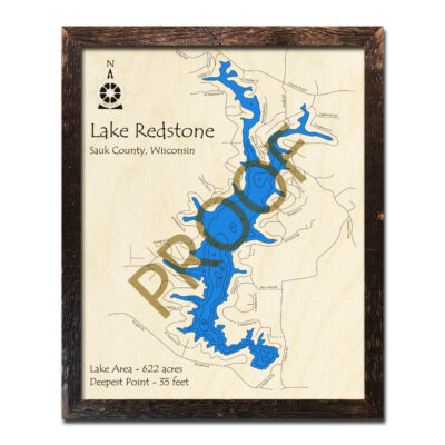 Lake Redstone 3d wood map