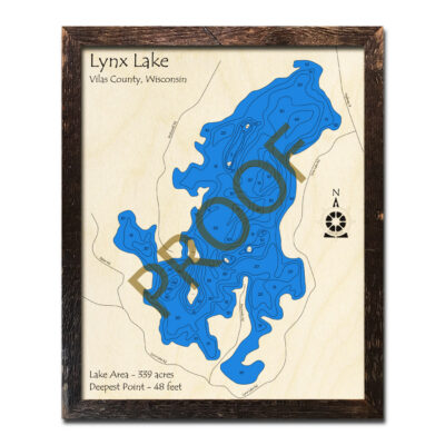 Lynx Lake 3d wood map