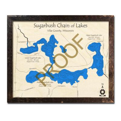 Sugarbush Chain 3d wood map