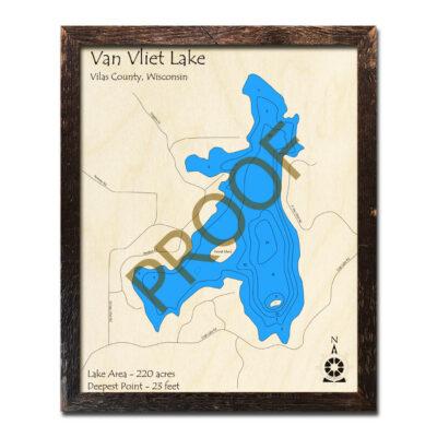 Van Vliet Lake 3d wood map