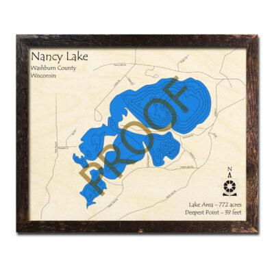 Nancy Lake 3d wood map
