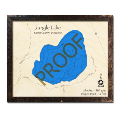 Jungle Lake 3d wood maps