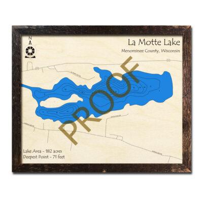 La Motte Lake 3d wood map