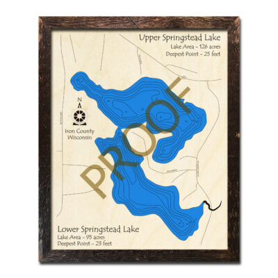 Springstead Lake 3d wood map