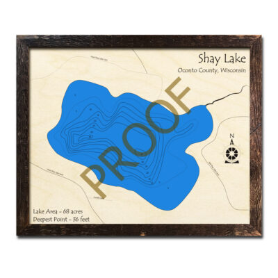 Shay Lake 3d wood map