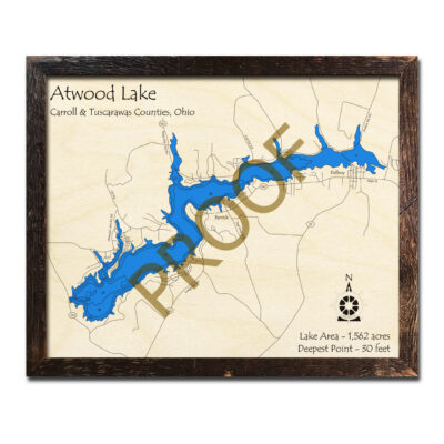 Atwood Lake 3d WOOD MAP