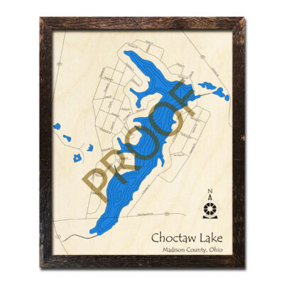 Choctaw Lake 3D wood map