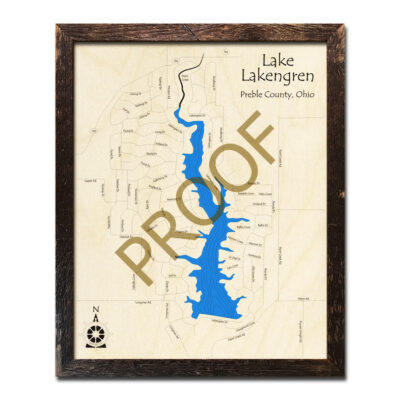 Lake Lakengren 3d wood map