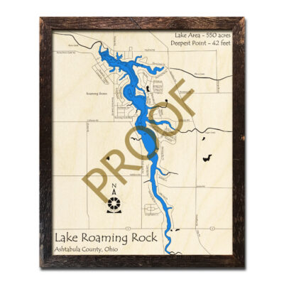 Lake Roaming Rock 3d wood map