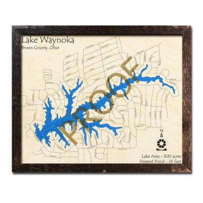 Lake Waynoka 3d wood map