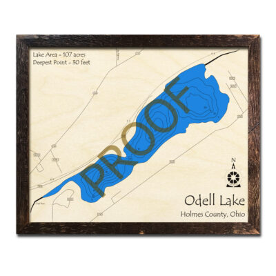 Odell Lake 3D Wood Map