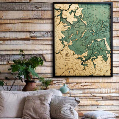 Boston harbor 3d wood map, gifts, souvenirs